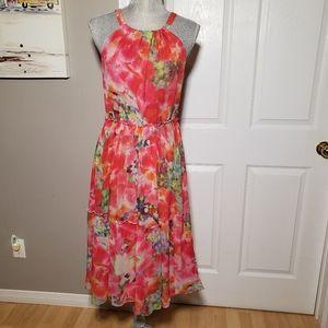 SUNDANCE silk midi dress